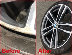 Alloy Wheel Refurbishment and Repairs Lowton - Before and After